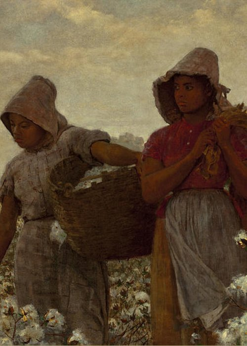 The Cotton Pickers Greeting Card featuring the digital art The Cotton Pickers by Winslow Homer