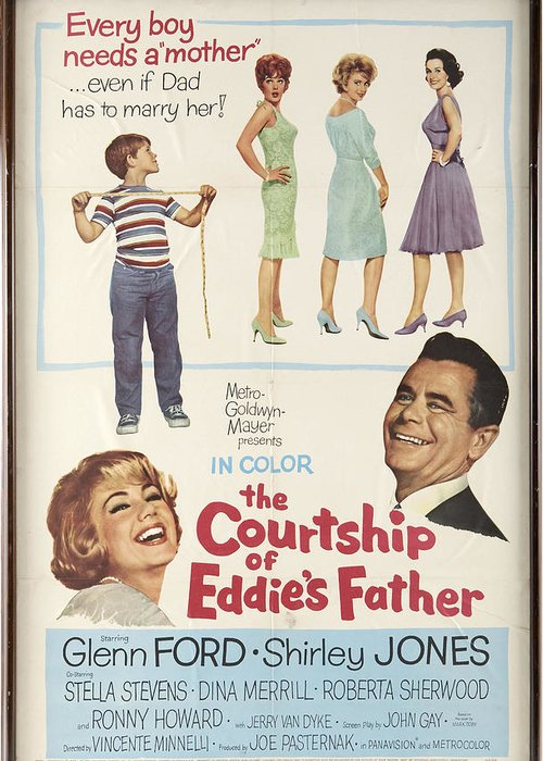 Glenn Ford Greeting Card featuring the photograph The Courtship Of Eddie's Father by Mountain Dreams