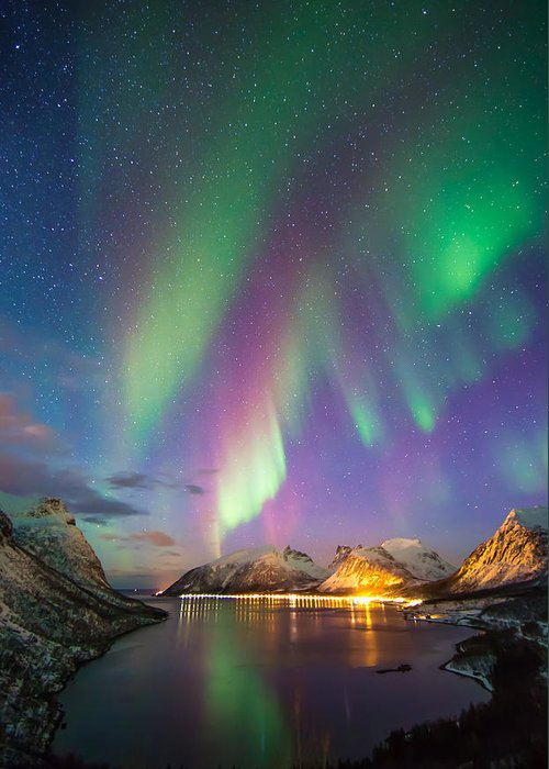 Aurora Greeting Card featuring the photograph The Cove by Anders Hanssen