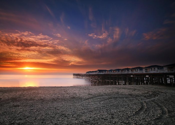Larry Marshall Greeting Card featuring the photograph The Crystal Pier by Larry Marshall