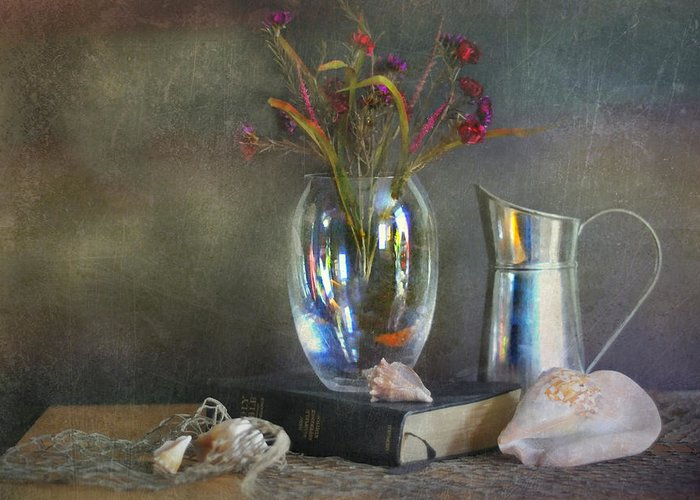 Still Life Greeting Card featuring the photograph The Crystal Vase by Diana Angstadt