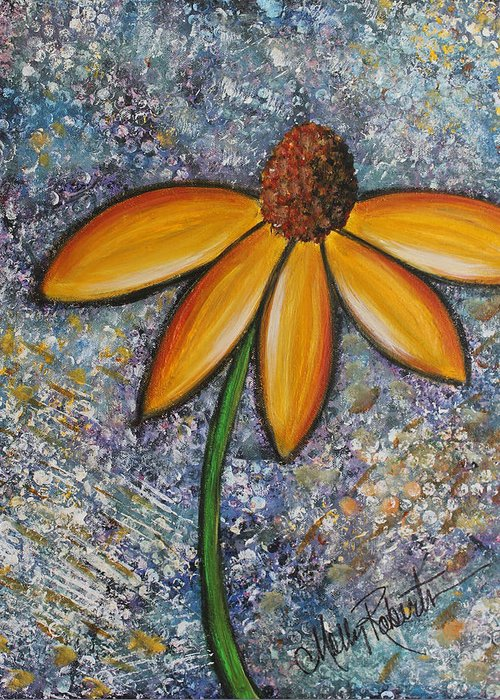 Daisy Greeting Card featuring the painting The Daisy by Molly Roberts