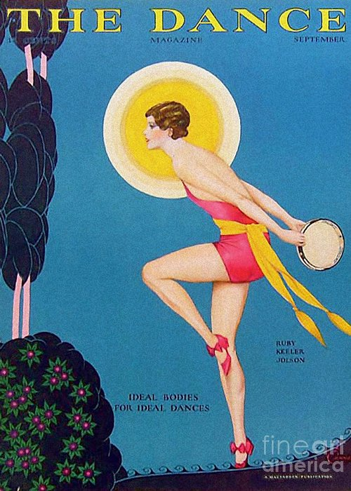 Covers Greeting Card featuring the drawing The Dance 1929 1920s Usa Ruby Keeler by The Advertising Archives