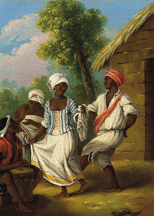 Agostino Brunias Greeting Card featuring the painting The Dance Of The Handkerchief by Agostino Brunias