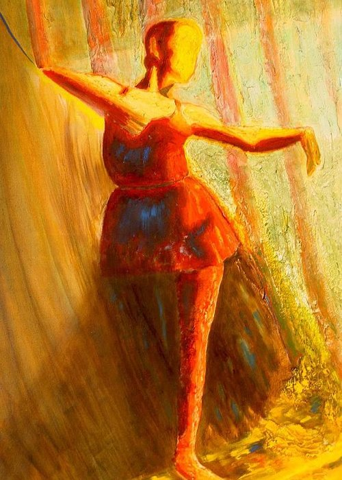 Dance Dancer Woman Lady Love Art Red Yellow Face Expression Impressionism Expressionism Light Warm Class Style Fashion Elegant Cool Smart Healthy Strong Facebook Web Student Online Talk Network Future Ideal Peace Solidarity Helpful Education Google Yahoo Gmail Gmail.com Org .org State Nation Value Values Twitter Rummble Salsa Tango Valzer Televsion Art Marketing Social Sustainability Environment Ecological Footprint Wonderful Beautiful Life Secret Secrets Beauty Image Change Rebirth Birth Good Greeting Card featuring the painting the Dancer by Bonifacio Sulprizio