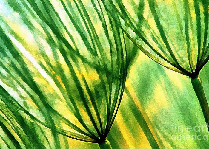 Odon Greeting Card featuring the painting The Dandelion by Odon Czintos