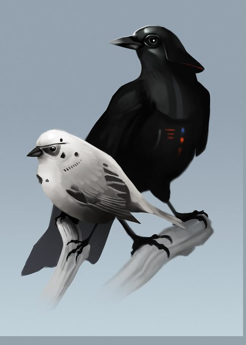 Star Wars Greeting Card featuring the painting The Dark Side of the Flock by Michael Myers