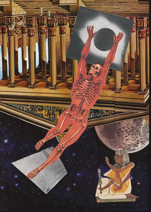 Collage Art Greeting Card featuring the mixed media The Dawn Of Man by Jonathon Prestidge