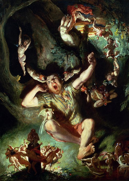 The Disenchantment Of Bottom Greeting Card featuring the painting The Disenchantment Of Bottom by Daniel Maclise