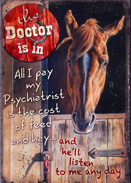Michelle Grant Greeting Card featuring the painting The Doctor Is In by JQ Licensing