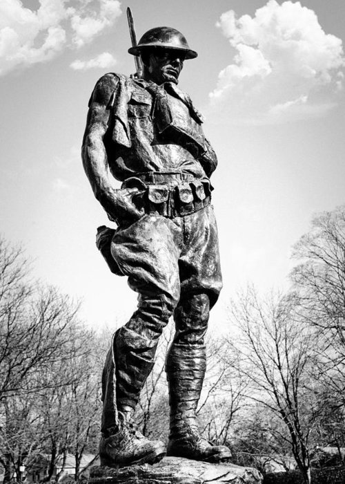 Doughboy Greeting Card featuring the photograph The Doughboy - Tribute To The American Expeditionary Forces Of World War 1 by Gary Heller