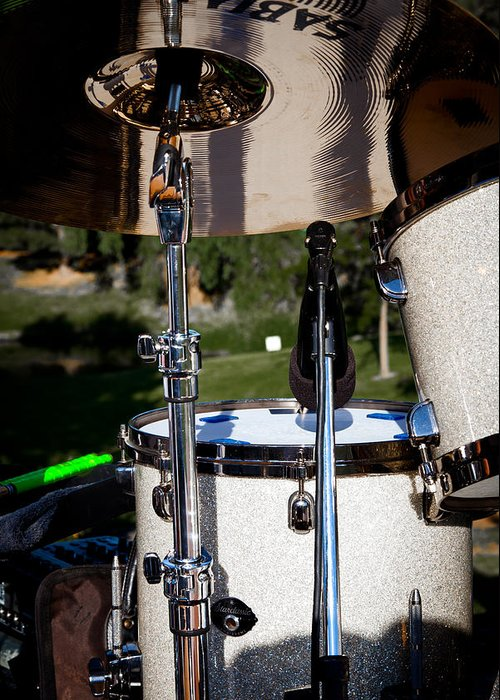 Music Greeting Card featuring the photograph The Drum Set by David Patterson