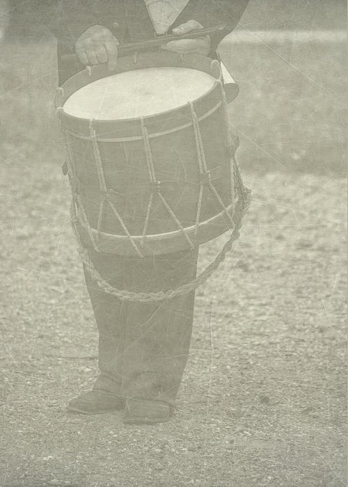 Drummer Greeting Card featuring the photograph The Drummer by Brenda Hackett
