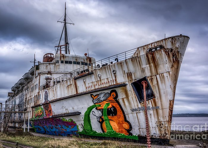 Abandoned Greeting Card featuring the photograph The Duke Of Lancaster by Adrian Evans