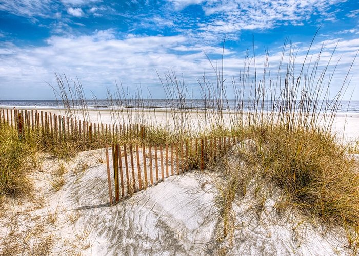 Clouds Greeting Card featuring the photograph The Dunes by Debra and Dave Vanderlaan