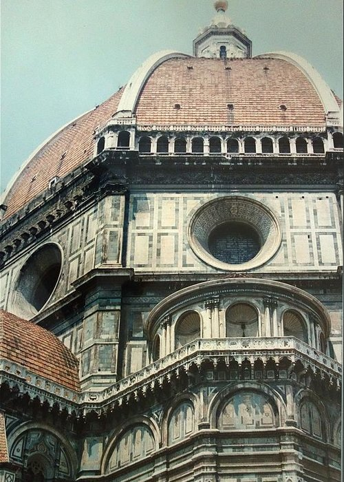 Duomo Greeting Card featuring the painting The Duomo Firenze by Melinda Saminski
