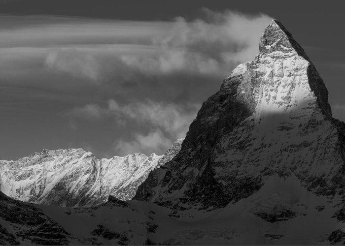 Matterhorn Greeting Card featuring the photograph The East Face by Catalin Tibuleac