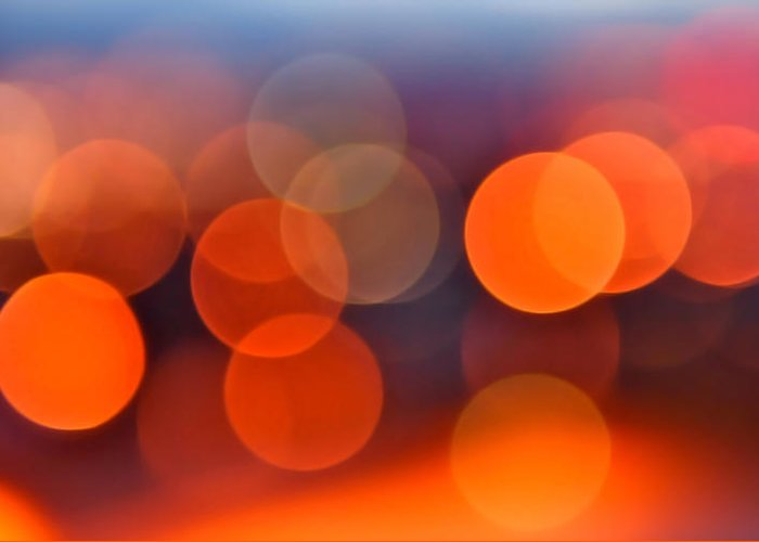 Abstract Greeting Card featuring the photograph The Edge Of Night by Rona Black