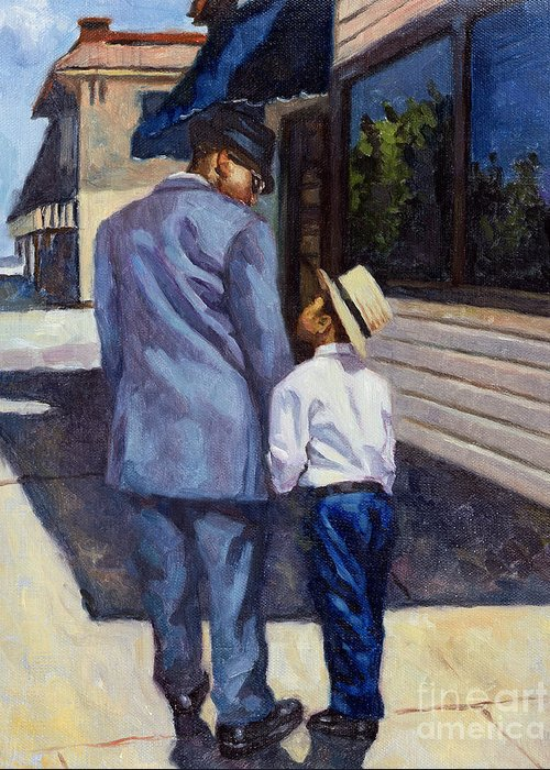 Father Greeting Card featuring the painting The Education Of A King by Colin Bootman