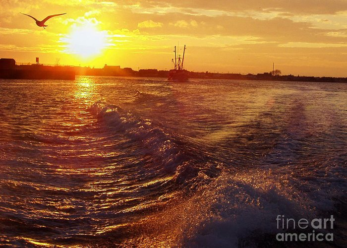 The End To A Fishing Day Greeting Card featuring the photograph The End To A Fishing Day by John Telfer