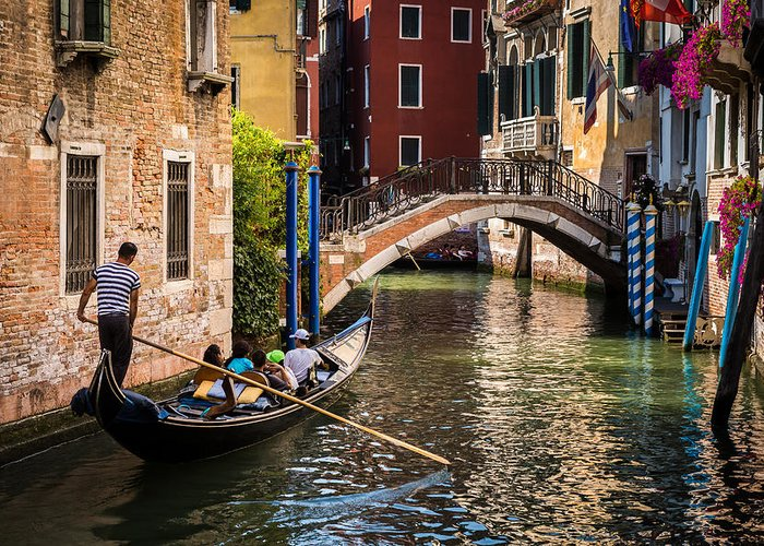 Canal Greeting Card featuring the photograph The Essence Of Venice by Mihai Andritoiu