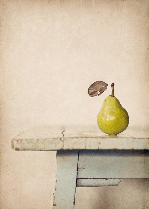 Pear Greeting Card featuring the photograph The Exhibitionist by Amy Weiss