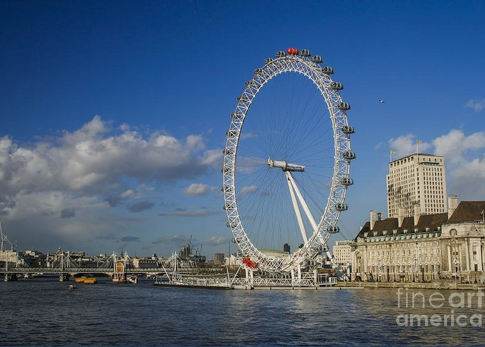 London Greeting Card featuring the photograph The Eye In London by Patricia Hofmeester