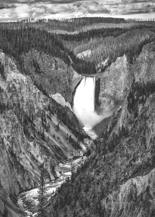 Vertical Greeting Card featuring the photograph The Falls Power by Jon Glaser