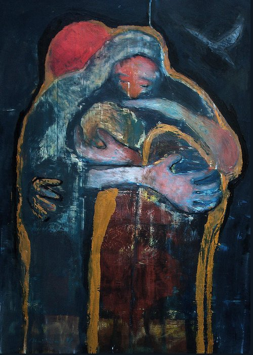 Christian Art Greeting Card featuring the painting The Fathers Forgiveness by Daniel Bonnell