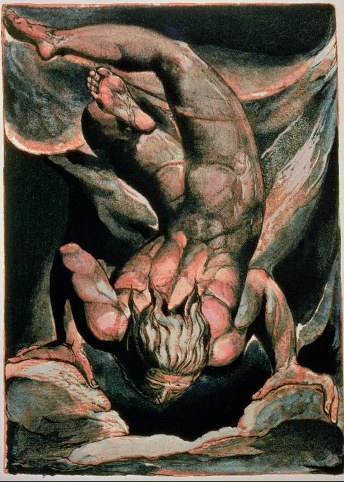 Illuminated Book Greeting Card featuring the painting The First Book Of Urizen by William Blake