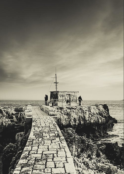 Fisherman Greeting Card featuring the photograph The Fishermen's Hut by Marco Oliveira