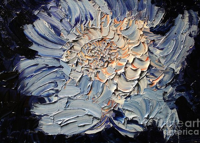 Michael Kulick Greeting Card featuring the painting The Flower I Never Sent by Michael Kulick