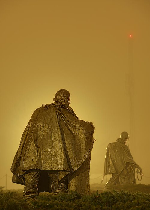 Metro Greeting Card featuring the photograph The Fog Of War #2 by Metro DC Photography