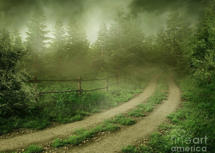 Foggy Road Greeting Card featuring the photograph The Foggy Road by Boon Mee