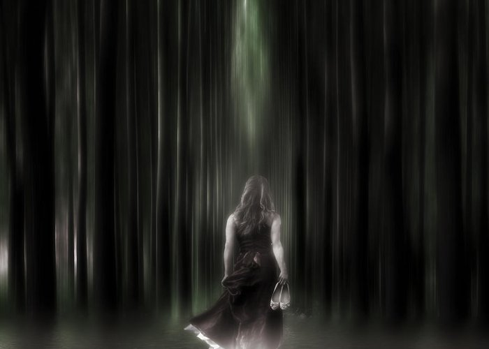 Woman Greeting Card featuring the photograph The Forest by Joana Kruse