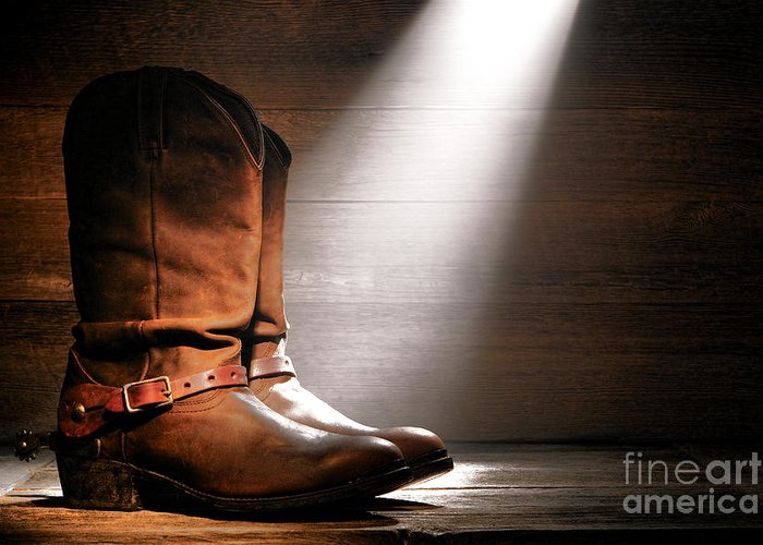 Boots Greeting Card featuring the photograph The Found Boots by Olivier Le Queinec