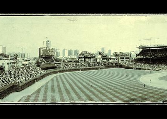 Chicago Greeting Card featuring the photograph The Friendly Confines by Jame Hayes