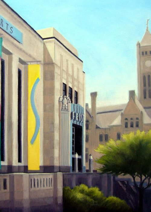 Frist Center For The Visual Arts Greeting Card featuring the painting The Frist Center by Janet King