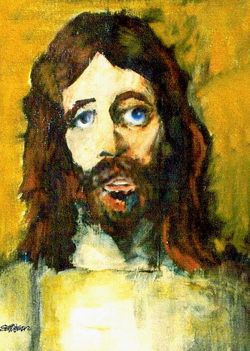 Jesus Christ Greeting Card featuring the painting The Galilean by Seth Weaver