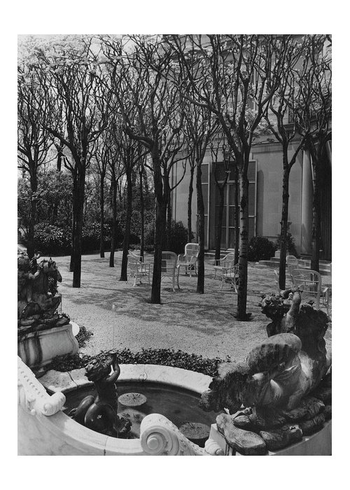Exterior Greeting Card featuring the photograph The Garden Of A Home In Meridian Hill by Carola Rust