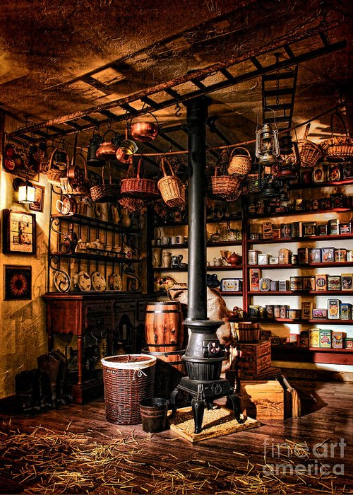 General Greeting Card featuring the photograph The General Store In My Basement by Olivier Le Queinec