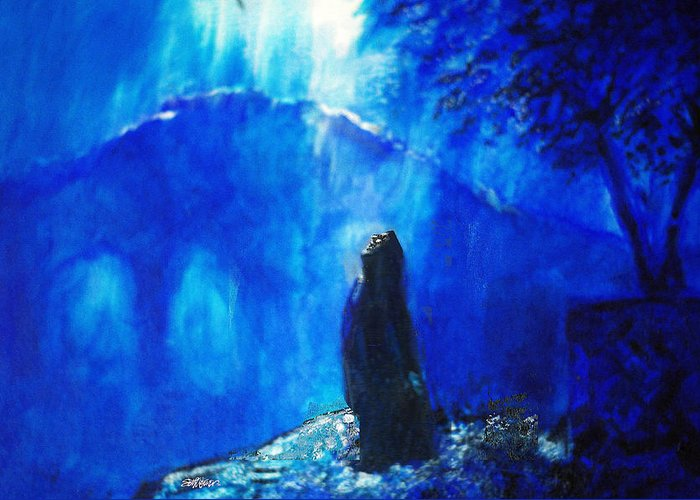The Gethsemane Prayer Greeting Card featuring the painting The Gethsemane Prayer by Seth Weaver