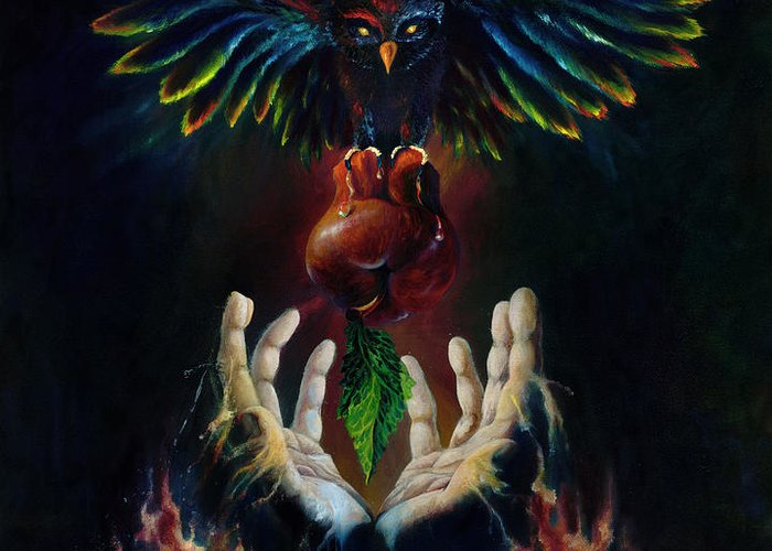 Metaphysical Greeting Card featuring the painting The Gift by Kd Neeley