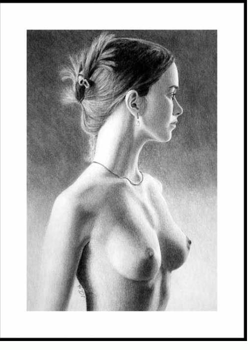 Pastel Greeting Card featuring the painting The Girl With The Glass Earring by Joseph Ogle