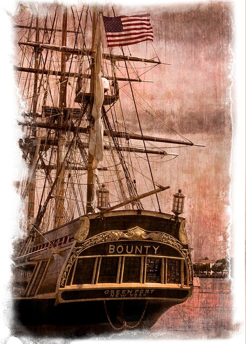 American Greeting Card featuring the photograph The Gleaming Hull Of The Hms Bounty by Debra and Dave Vanderlaan