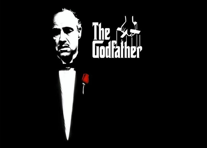 The Godfather Poster Greeting Cards