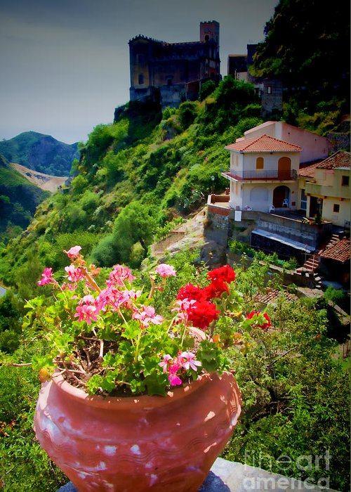 Sicily Greeting Card featuring the photograph The Godfather Villages Of Sicily by David Smith