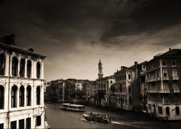 Venice Greeting Card featuring the photograph The Grand Canal by Aaron Bedell