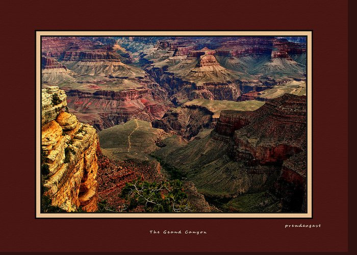 Arizona.the Grand Canyon Greeting Card featuring the photograph The Grand Canyon by Tom Prendergast