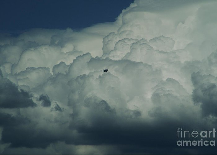 Cloud Greeting Card featuring the photograph The Great Escape by Linda Shafer